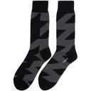 Sacai Black and Grey Glencheck Socks