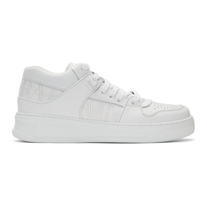 Photo: Balmain White Kane Sneakers