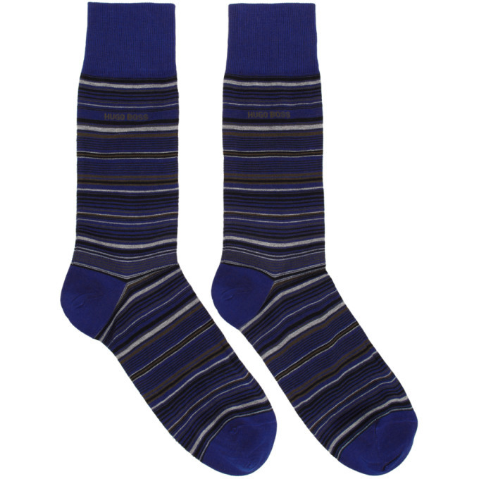 Photo: Boss Navy Multi Stripe Socks