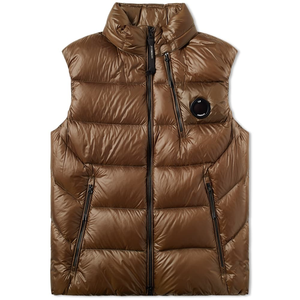 C.P. Company Chest Lens Down Gilet Green