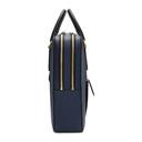 Smythson Blue Leather Large Panama Briefcase