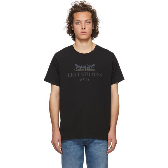 Photo: Levis Black Set-In Neck T-Shirt