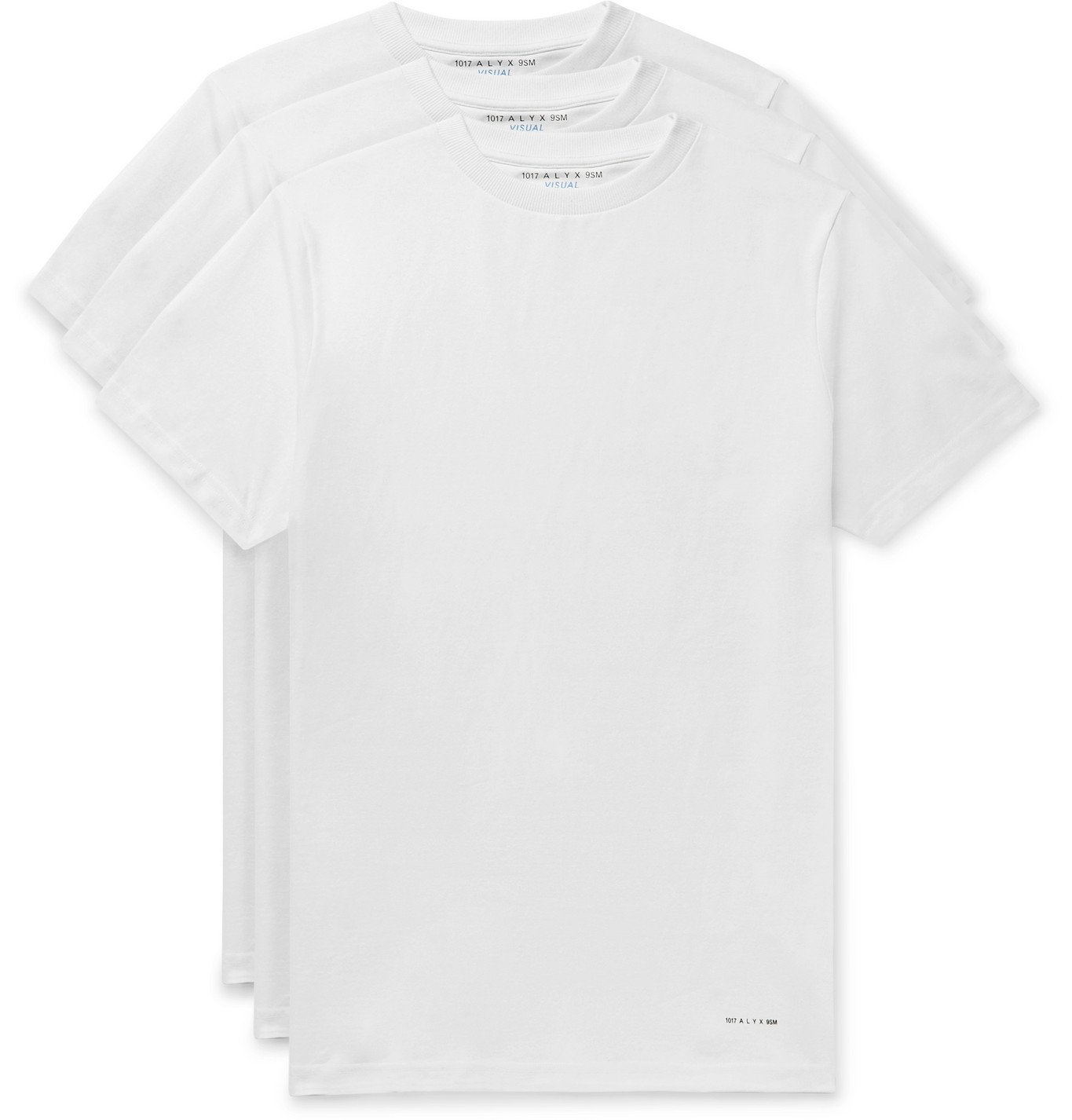 Photo: 1017 ALYX 9SM - Three-Pack Cotton-Blend Jersey T-Shirts - White