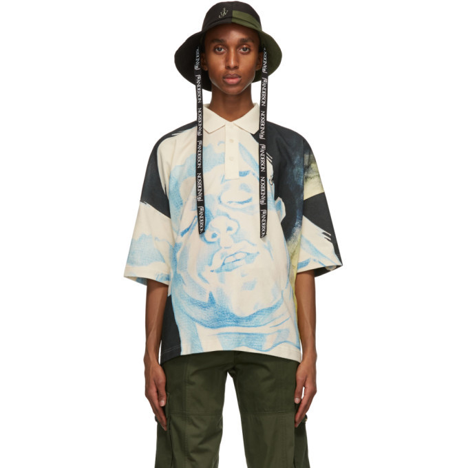 Photo: JW Anderson Black and Green Asymmetric Bucket Hat