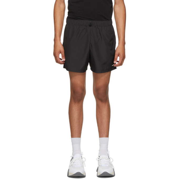 Photo: Versace Underwear Black and Yellow Barocco Gym Shorts