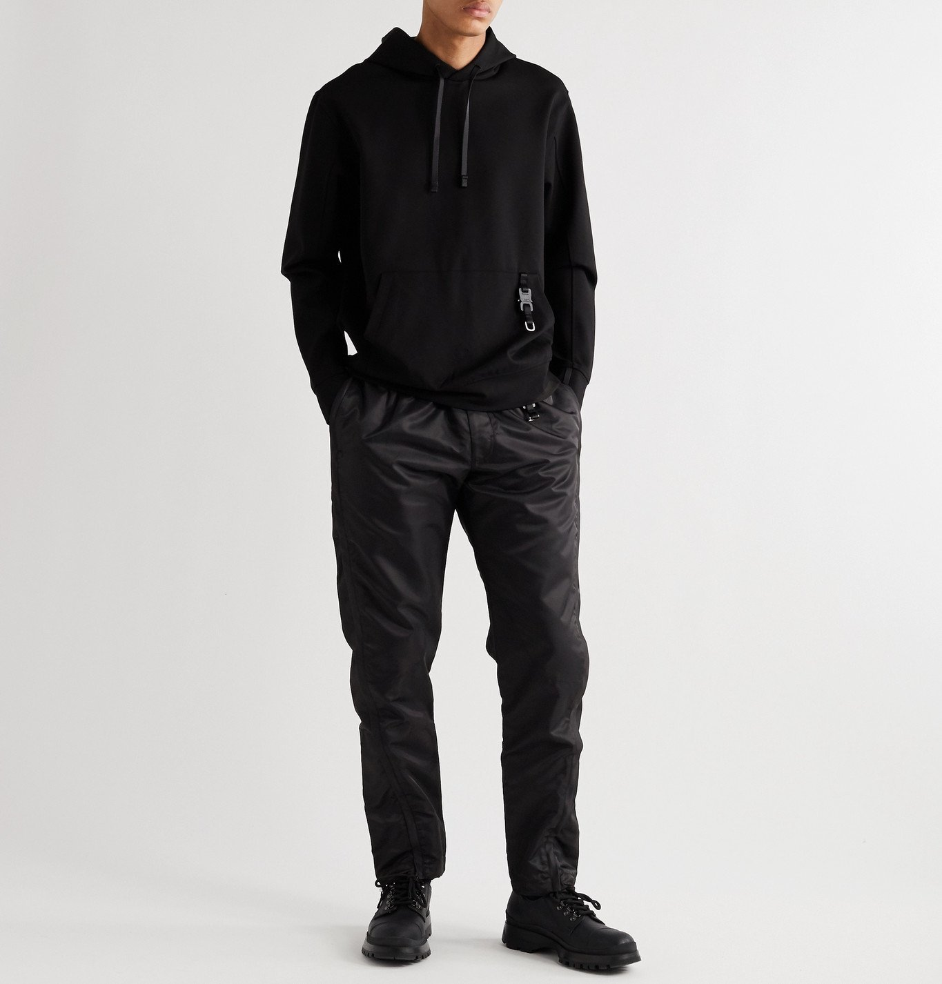 1017 ALYX 9SM - Slim-Fit Buckle-Detailed Nylon Sweatpants - Black
