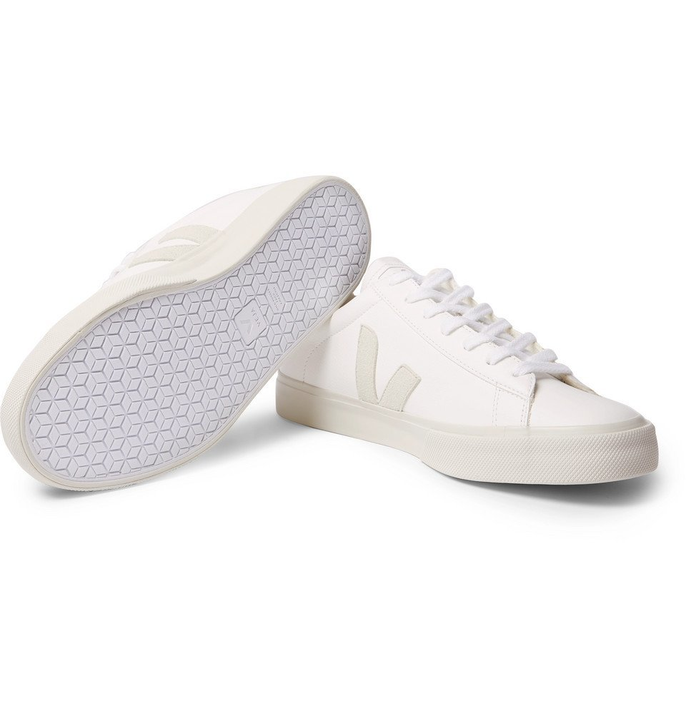 Veja - Campo Suede-Trimmed Leather Sneakers - White
