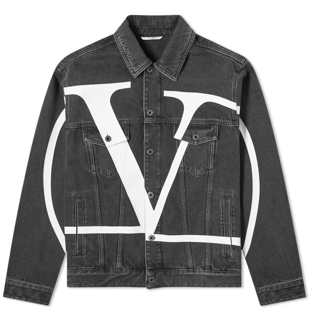 Photo: Valentino Large V Logo Denim Jacket