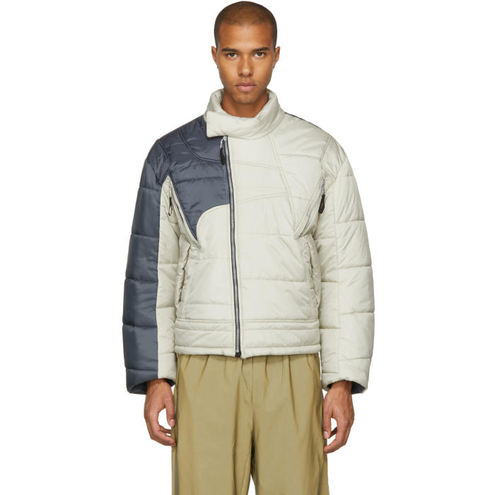 GmbH Beige and Grey Helly Hansen Edition Recycled Down Hans Jacket