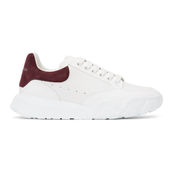 Photo: Alexander McQueen White and Purple Court Trainer Sneakers