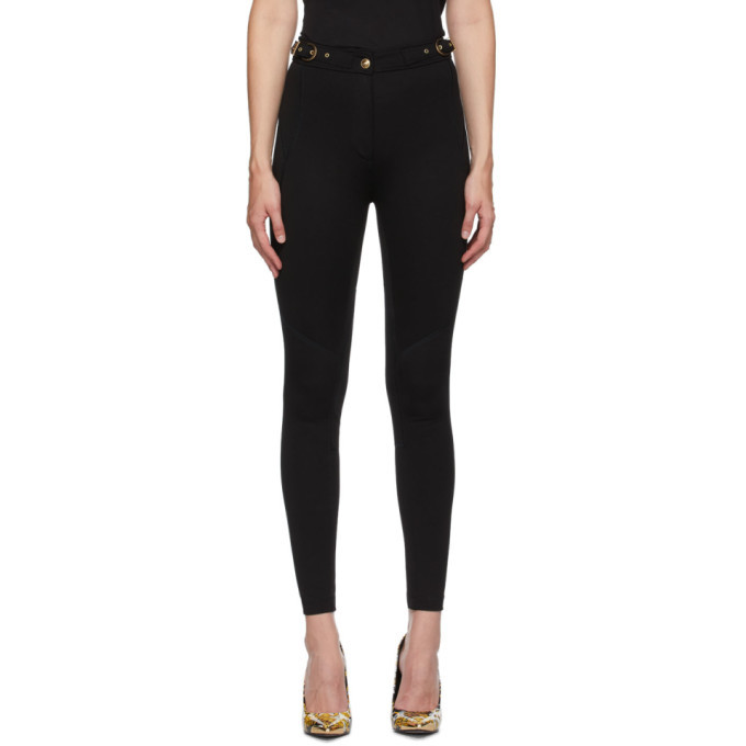 Versace Jeans Couture Black Seasonal Details Trousers