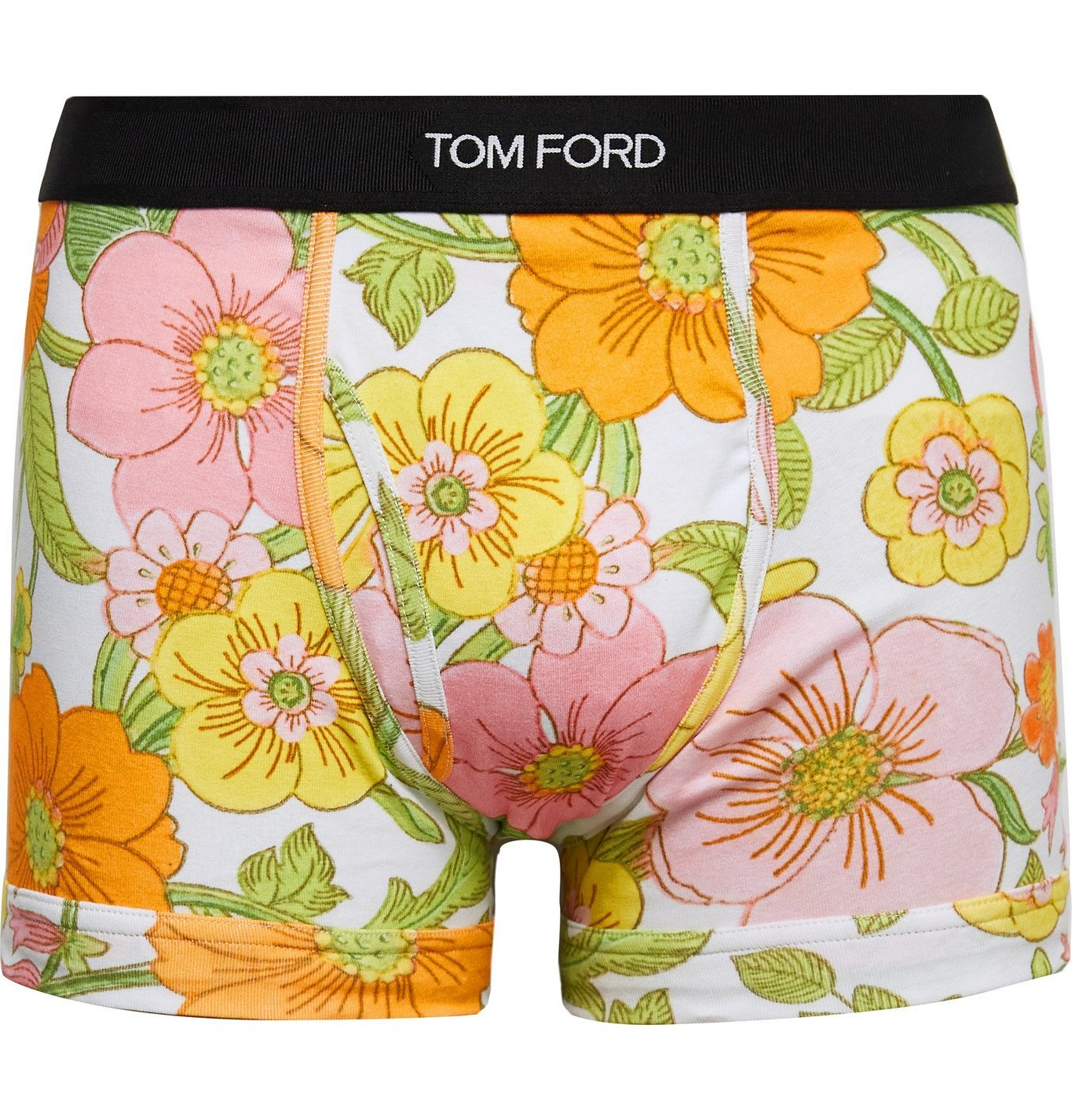 Photo: TOM FORD - Floral-Print Stretch-Cotton Jersey Boxer Briefs - Pink