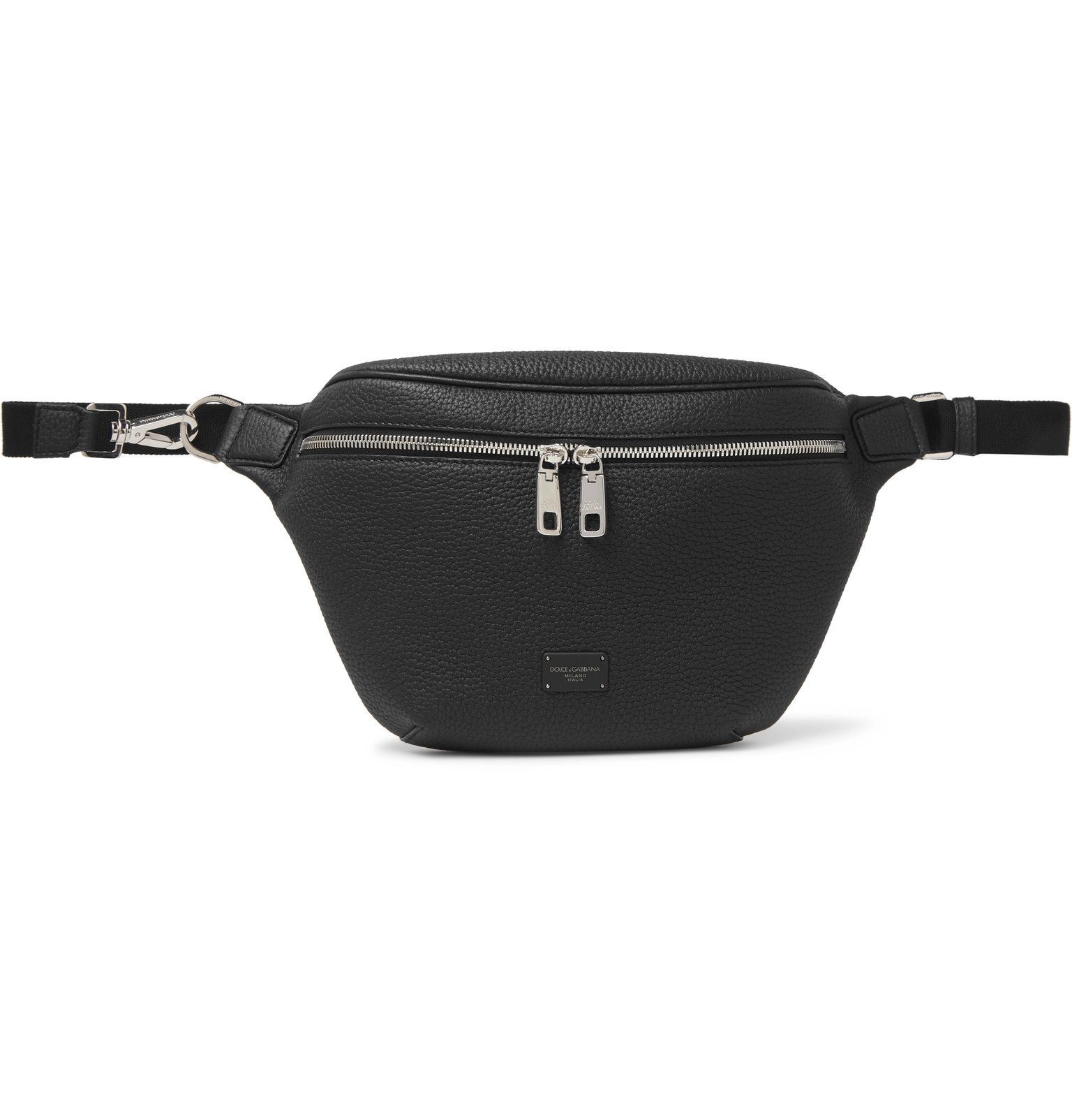 Photo: Dolce & Gabbana - Full-Grain Leather Belt Bag - Black