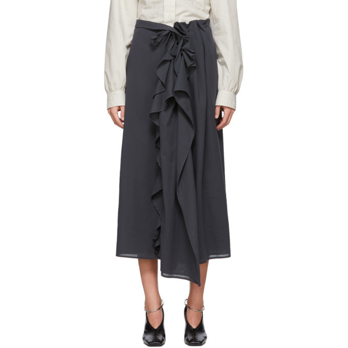 Photo: Lemaire Grey Ruffle Skirt