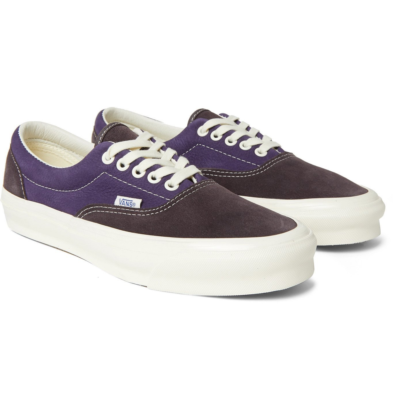 Photo: Vans - OG Era LX Colour-Block Suede and Nubuck Sneakers - Purple