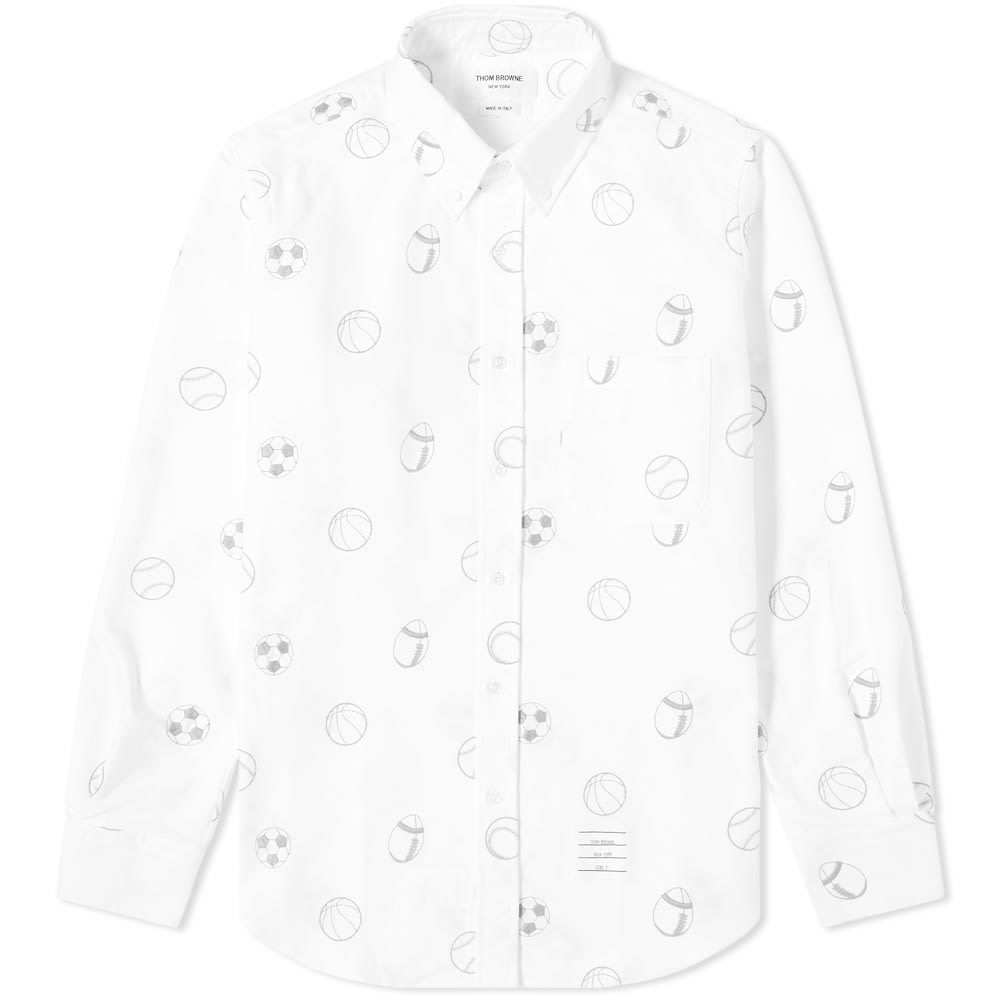 Photo: Thom Browne Ball Icon Embroidery Button Down Shirt