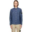 Stone Island Blue Buttoned Shirt