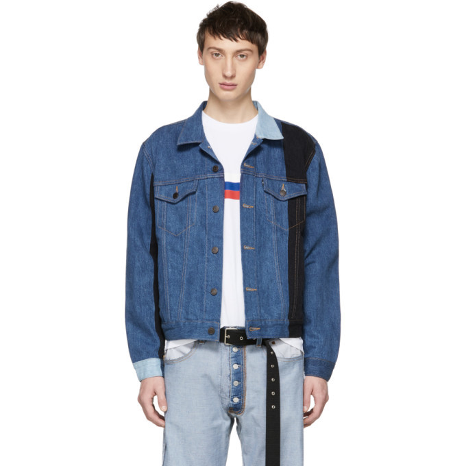Photo: Gosha Rubchinskiy Navy Levis Edition Patchwork Jacket