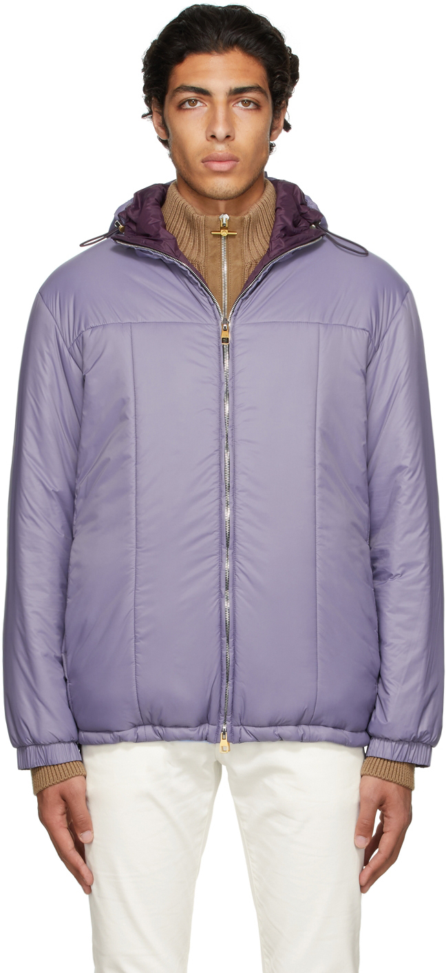 Photo: Dunhill Reversible Purple Hooded Jacket