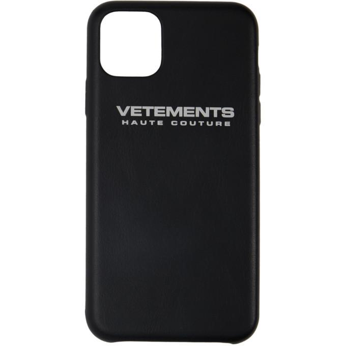 Photo: VETEMENTS Black Logo iPhone 11 Pro Case