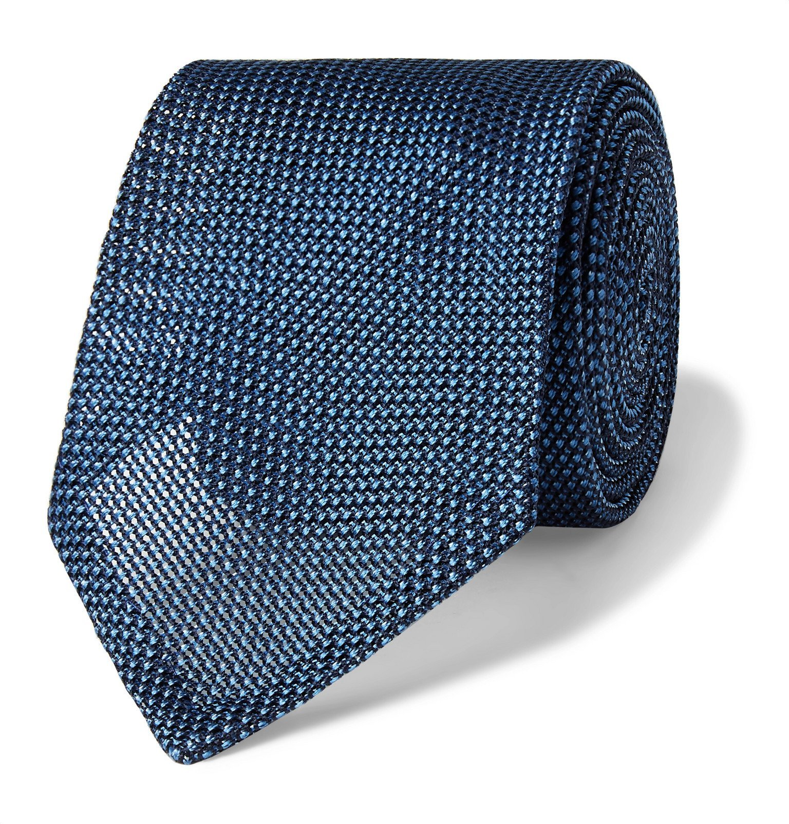 Photo: Canali - 8cm Silk-Gauze Tie - Blue