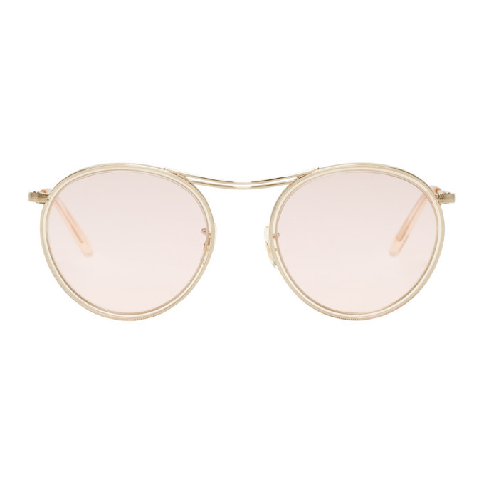 Photo: Oliver Peoples Gold and Pink MP-3 30th Sunglasses