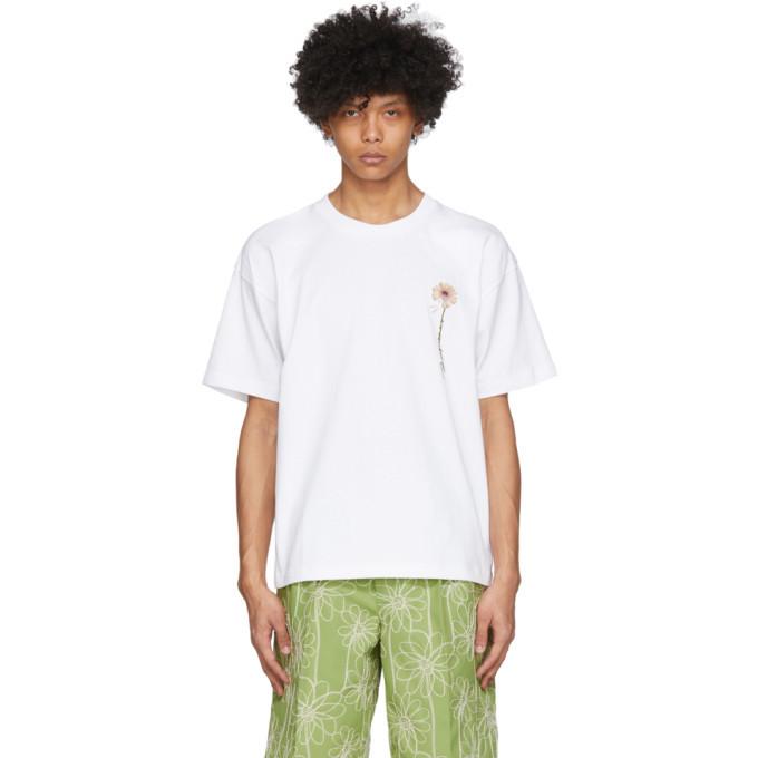 Photo: Jacquemus White Le T-Shirt Fleur T-Shirt