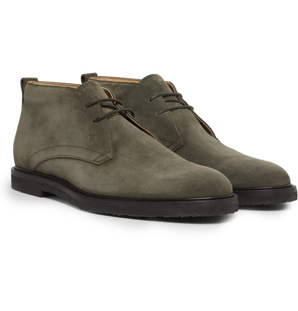 Photo: Tod's - Suede Desert Boots - Army green