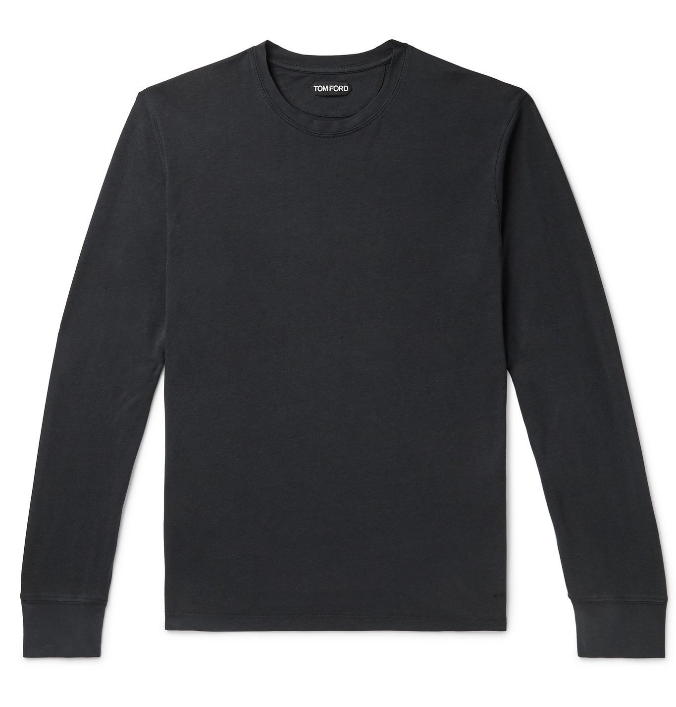 Photo: TOM FORD - Lyocell and Cotton-Blend T-Shirt - Black