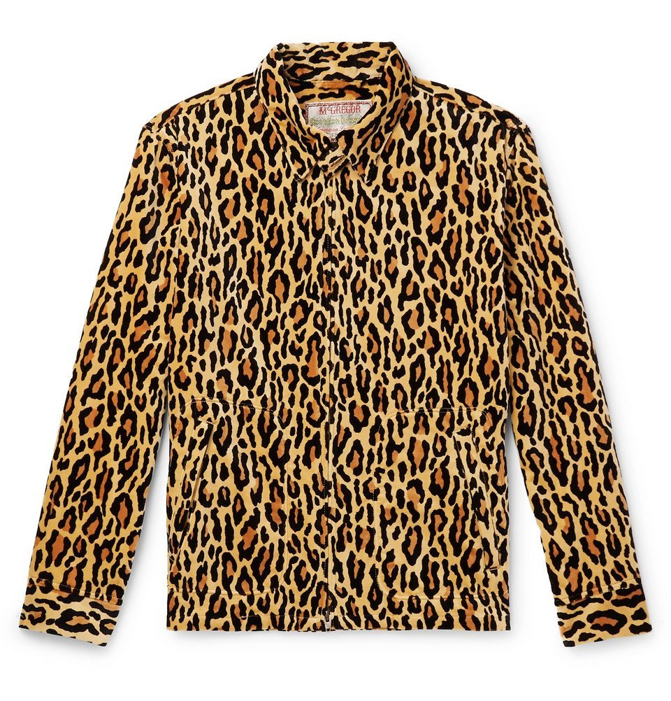 Photo: Wacko Maria - Leopard-Print Cotton-Velour Jacket - Brown