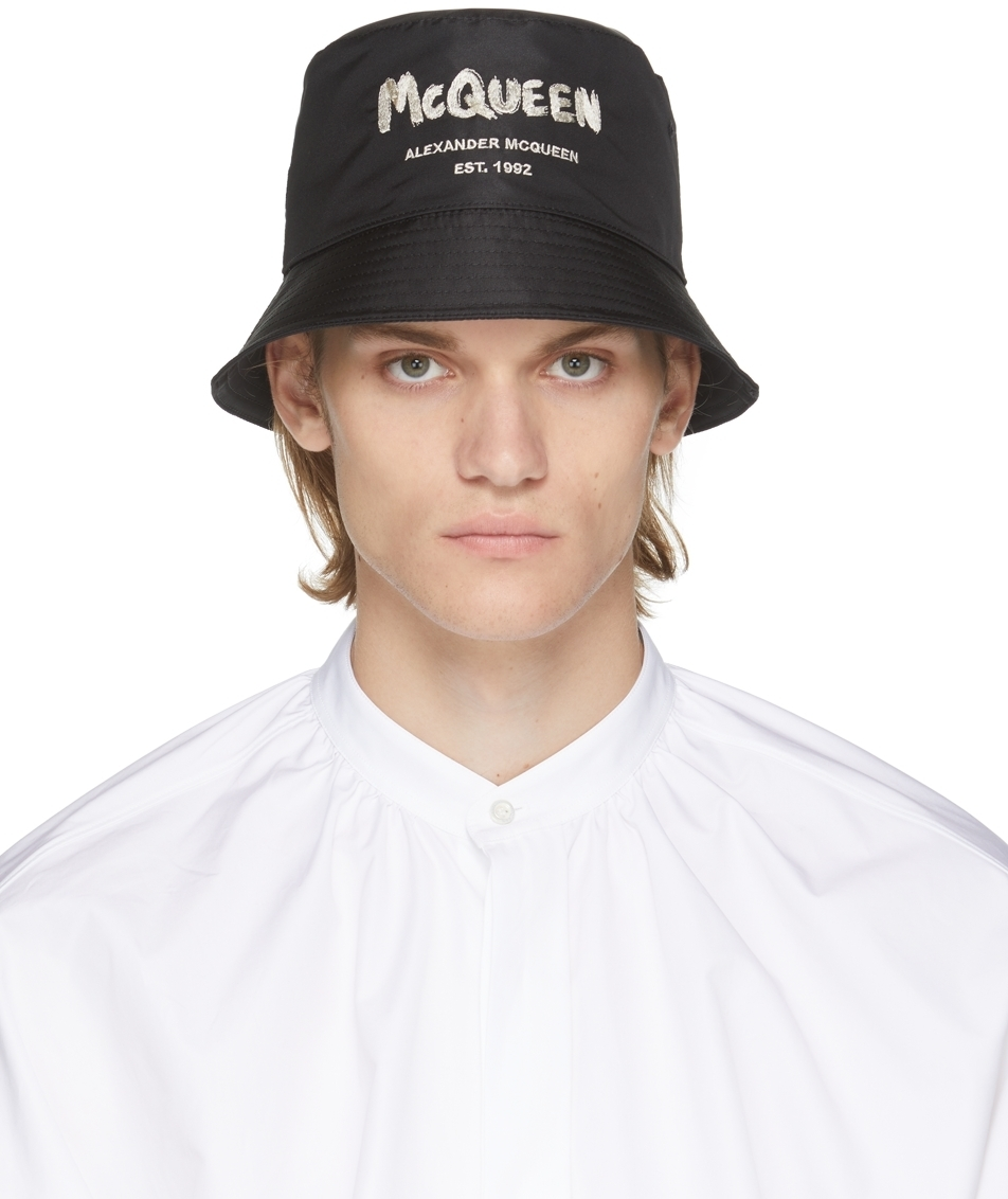 Photo: Alexander McQueen Black Graffiti Bucket Hat