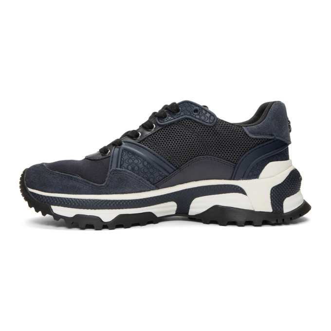 Coach 1941 Navy Monochrome C143 Runner Sneakers