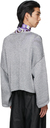 Raf Simons Silver 'RS' Short Oversized Sweater