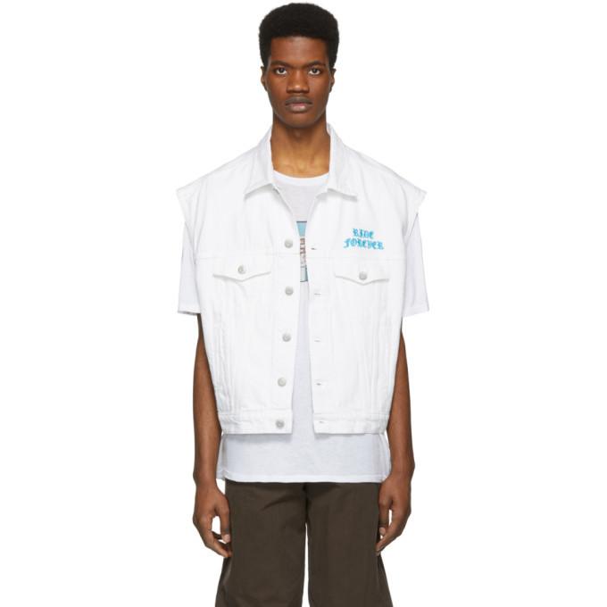 Photo: Adaptation White Denim Vest