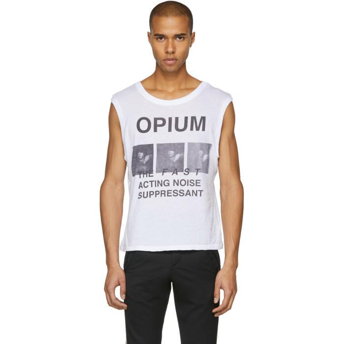 Photo: Enfants Riches Déprimés White Opium Tank Top
