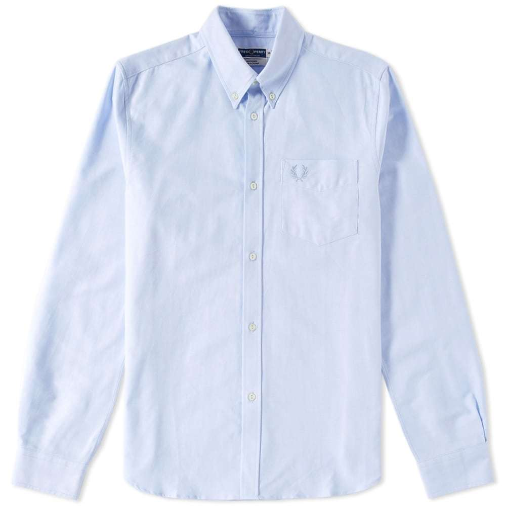 Photo: Fred Perry Reissues Heavy Oxford Shirt Blue