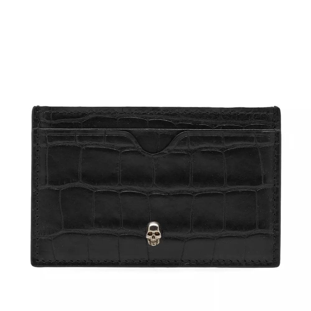 Alexander McQueen Skull Croc Card Holder