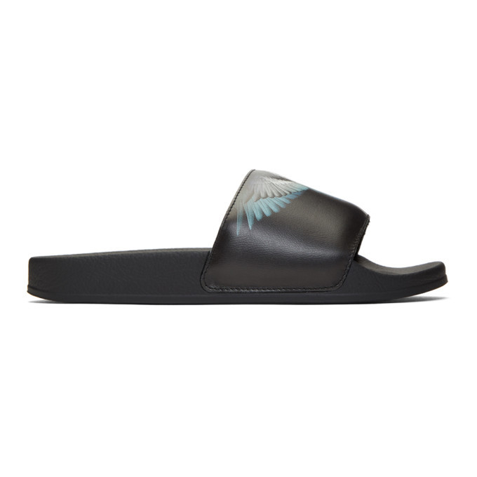 Photo: Marcelo Burlon County of Milan Black and Blue Wings Slides