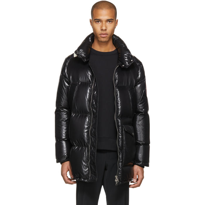 Moncler Black Down Mancora Coat