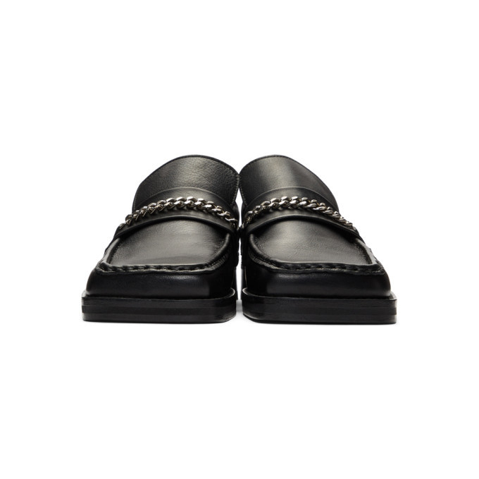 Martine Rose Black Leather Slip-On Loafers