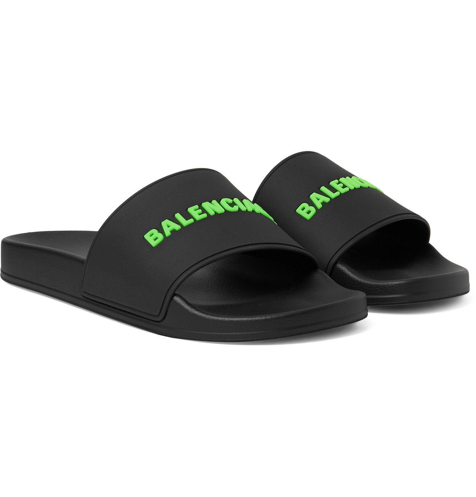 Photo: Balenciaga - Logo-Detailed Rubber Slides - Black