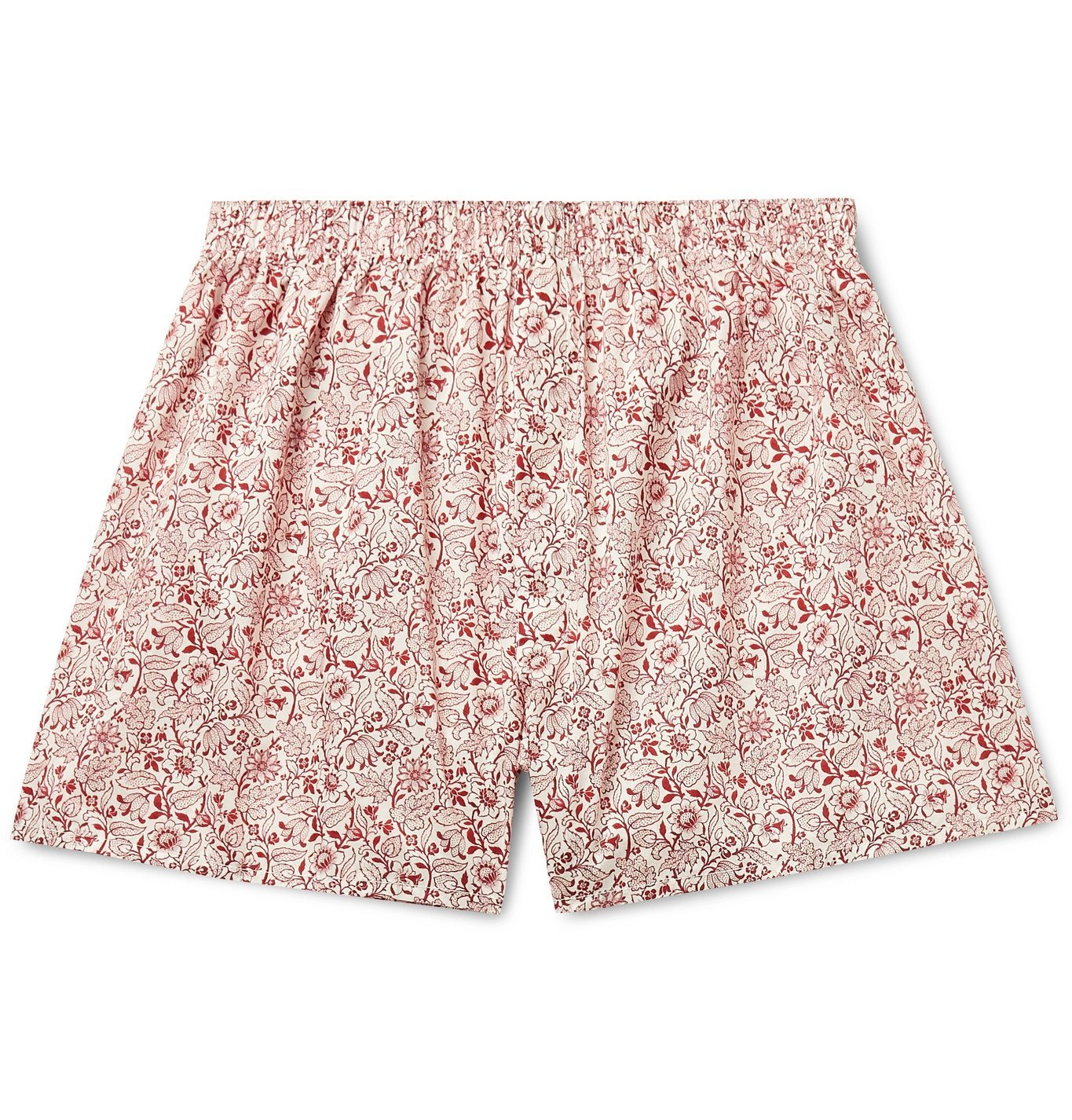 Photo: Sunspel - Printed Cotton Boxer Shorts - Red