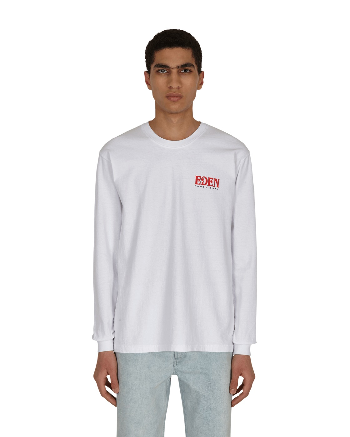 Photo: Eden Power Corp Eden Recycled Longsleeve T Shirt White / Red