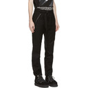 Sacai Black Wool Belted Trousers