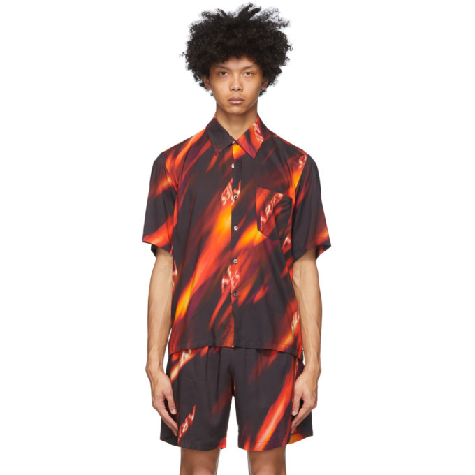Photo: Aries Multicolor Fyre Hawaiian Shirt