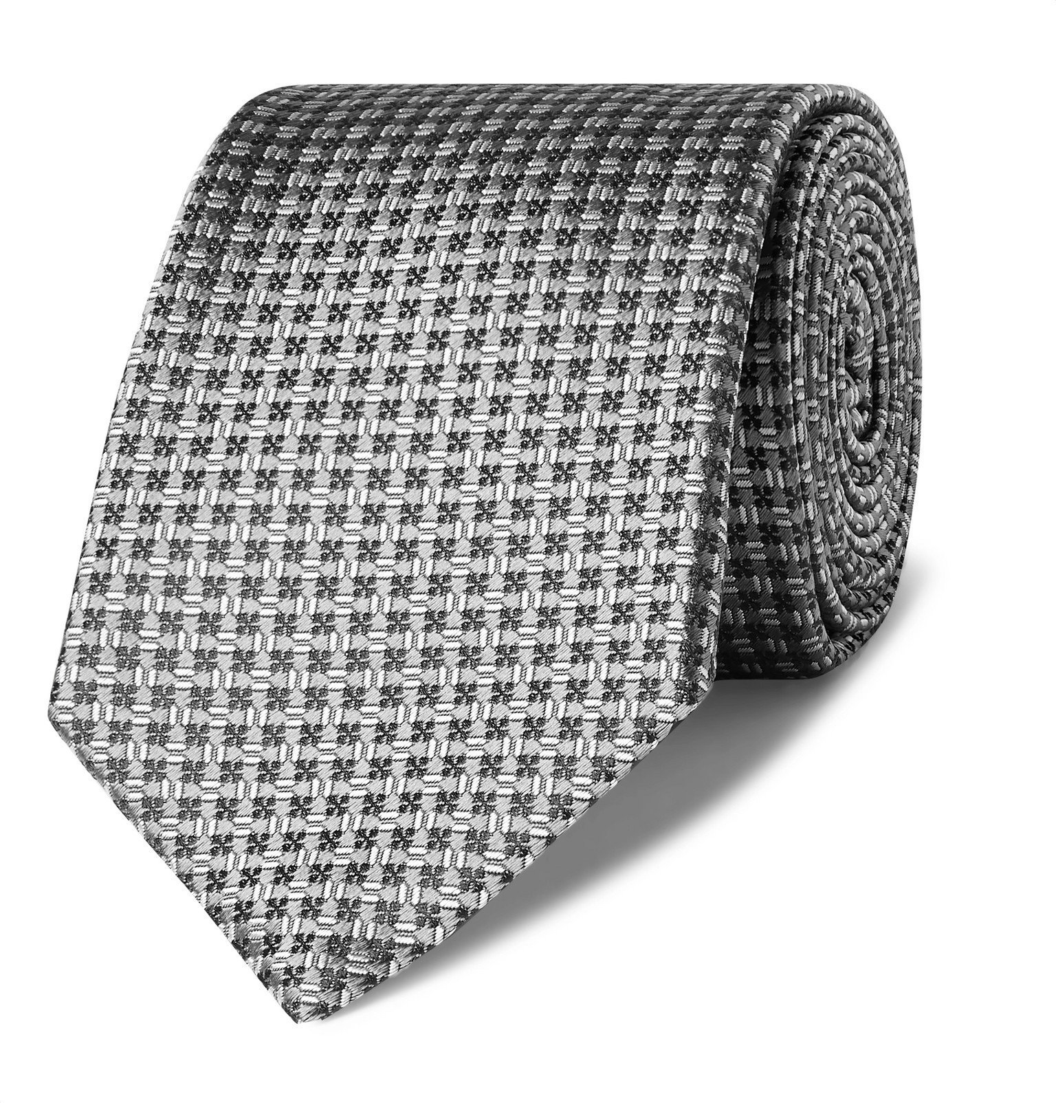 Photo: Canali - 8cm Silk-Jacquard Tie - Gray