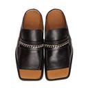 Martine Rose Black Open Toe Loafers