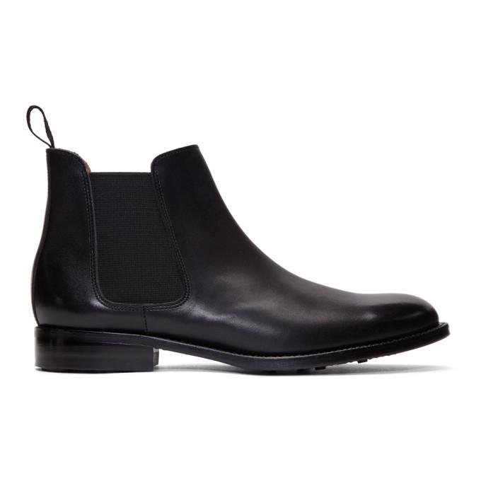 Photo: Comme des Garcons Homme Plus Black Leather Chelsea Boots