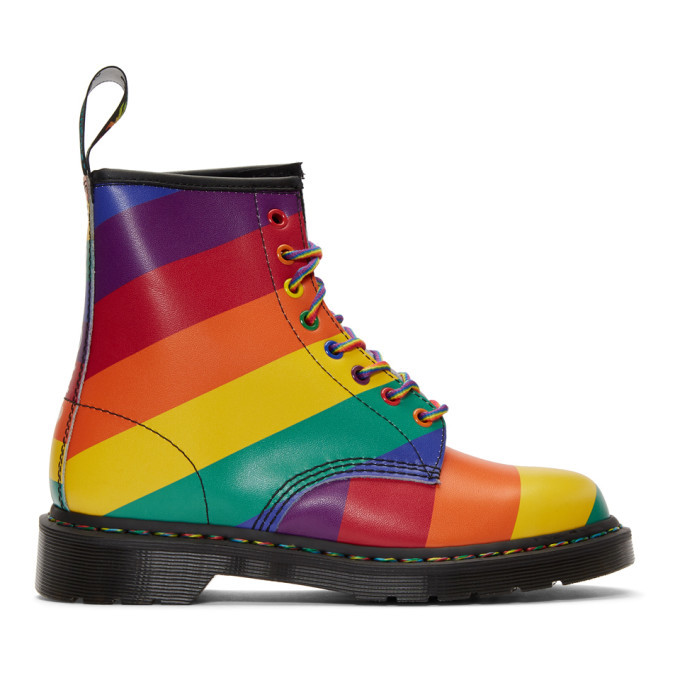 Photo: Dr. Martens Multicolor Pride Rainbow 1460 Boots