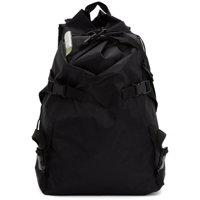 Photo: The Viridi-anne SSENSE Exclusive Black Macro Mauro Edition Wrinkled 3-Layer Backpack